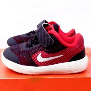 Nike Revolution 3 Red, Silver & Black Sneakers- 4C